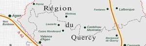 Région du quercy. domaine des terres blanches