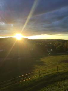 coucher de soleil domaine des terres blanches